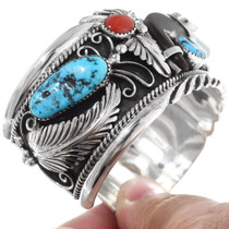 Turquoise Coral Mens Cuff 26216