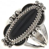 Black Onyx Silver Navajo Silver Ring 28560