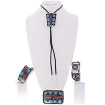Spiderweb Turquoise Coral Jewelry 28008