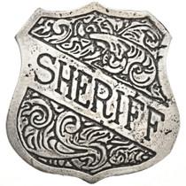 Western Silver Sheriff Badge 29004