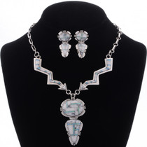 Inlaid Opal Howlite Necklace Set 27988