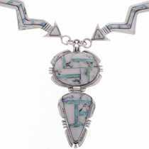 Inlaid Sterling Arrow Necklace 27988