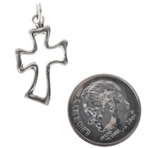 Sterling Silver Cross Charm Bracelet Pendant Necklace