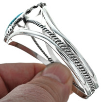 Navajo Turquoise Silver Cuff 29593