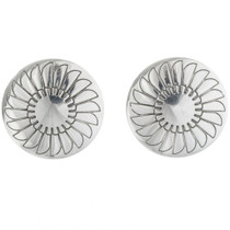 Navajo Silver Concho Post Earrings 18937
