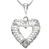 Sterling Silver Heart Pendant 22786