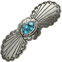 Navajo Silver Turquoise Hair Barrette 29345