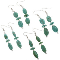Natural Kingman Turquoise Earrings 28268