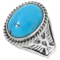 Turquoise Thunderbird Mens Ring 27102