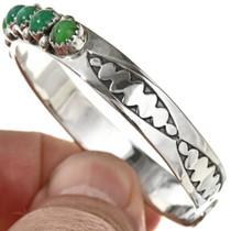 Navajo Hammered Sterling Bracelet 29226