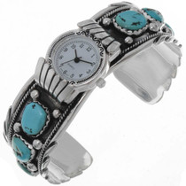 Turquoise Silver Watch Cuff 19252