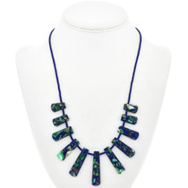 Green Blue Jasper Necklace 29060