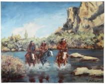 Apache Indian Raiding Party Print 16608