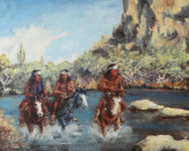 Out of Bounds Apache Indian Canvas Print 16608