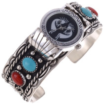 Turquoise Silver Coral Ladies Watch 24520