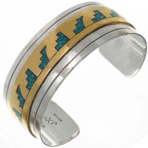Silver Inlaid Gold Bracelet 17798