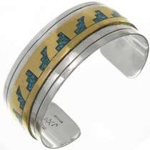 Silver Inlaid Gold Bracelet 17798