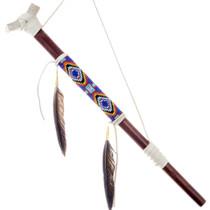 Beaded Buckskin Peace Pipe 24568