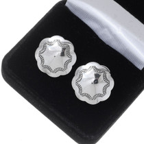 Navajo Hammered Silver Cuff Links 20882