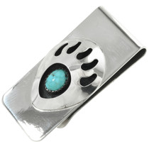 Turquoise Silver Money Clip 23865