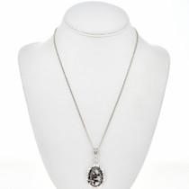 Wild Horse Magnesite Silver Pendant 29179