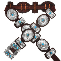 Sleeping Beauty Turquoise Concho Belt 10126