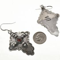 Navajo Hammered Silver Cross Earrings 28852