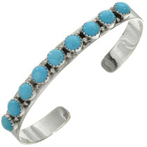 Turquoise Row Silver Bracelet 27692