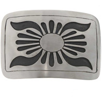 Overlaid Silver Belt Buckle 23105