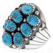 Native American Turquoise Cluster Ring 25274