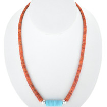Spiny Oyster Turquoise Silver Necklace 27433