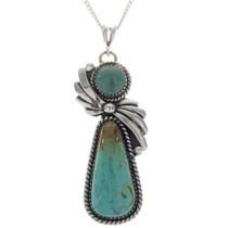 Navajo Turquoise Fan Pendant 27792