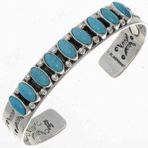 Sleeping Beauty Turquoise Row Bracelet 13243