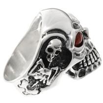 Silver Skull Mens Ring 26023