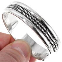 Twist Wire Silver Bracelet 12721
