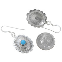 Hammered Silver Concho Turquoise Jewelry 23031