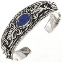 Native American Lapis Silver Cuff 28998
