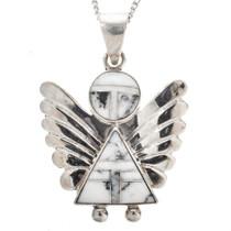 Sterling Gemstone Southwest Pendant Necklace 29525