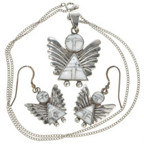 Silver Angel Pendant Set 29525