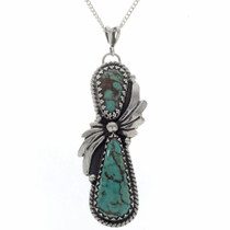 Native American Turquoise Sterling Pendant 27791