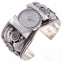 Native American Silver Cuff Watch 24480