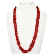 Navajo Branch Coral Three Strand Necklace 29122