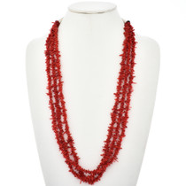 Red Coral Native American Necklace 29122