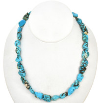 Turquoise Magnesite Nuggets Bead Strand 30878
