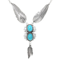 Navajo Silver Feathers Necklace 26320