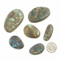 240 Carats BOULDER & PICTURE MOUNTAIN Turquoise Cabochons Various Shapes