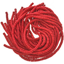 7mm Red Wooden Beads 16 inch Strand