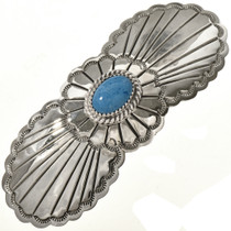 Denim Lapis Silver Navajo Hair Barrette 29350