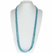 Navajo Turquoise Bead Necklace 24493