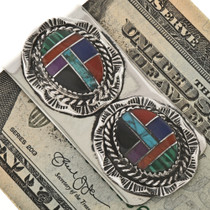 Inlaid Southwest Silver Money Clip 12952